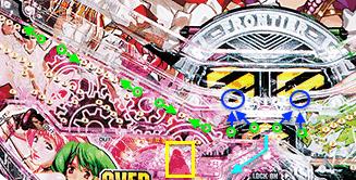 CRフィーバーマクロスフロンティア3 道釘〜ヘソ釘 オーバーチャージ