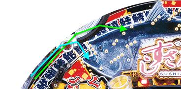 【デジタル始動までの説明】Pすしざんまい極上(豊丸)【釘攻略・釘読み・釘の見方・役物詳細】ストローク