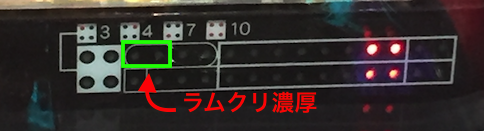 P甲鉄城のカバネリ 朝一リセット(ラムクリ)ランプ判別