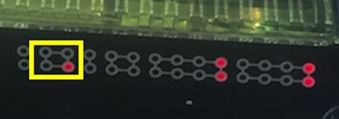 Pコードギアス 反逆のルルーシュ ライトミドルver. SANKYO 朝一リセット(ラムクリ)の可能性があるランプパターン